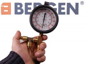 BERGEN 11 Pce Petrol Fuel Injection Pressure Test Kit 0-145psi